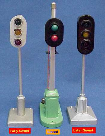 Photo of 2 Soviet block signals & one from Lionel