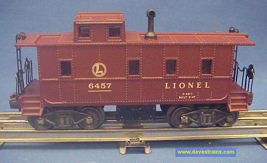Dave S Trains Inc Postwar Lionel Cabooses