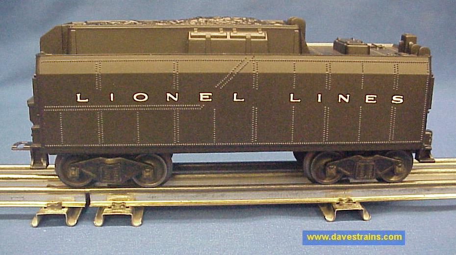 dave s trains inc postwar lionel steam engines tenders rh davestrains com Lionel Whistling Tender Lionel 0 Scale Tenders