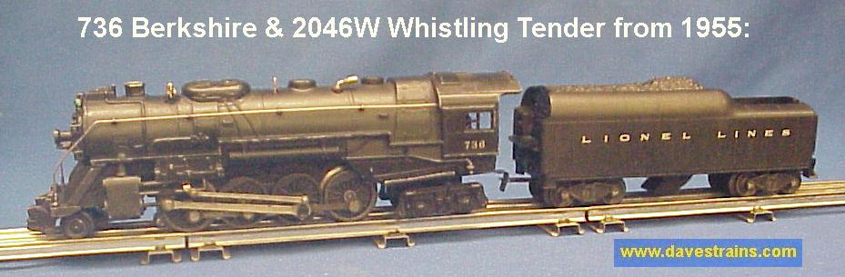 dave s trains inc postwar lionel steam engines tenders rh davestrains com Lionel Whistling Tender Lionel Postwar Trains
