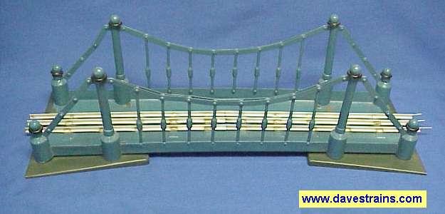 Photo of blue Soviet Suspension Bridge
