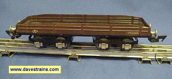 Photo of Soviet Flatcar with r MOCKBA