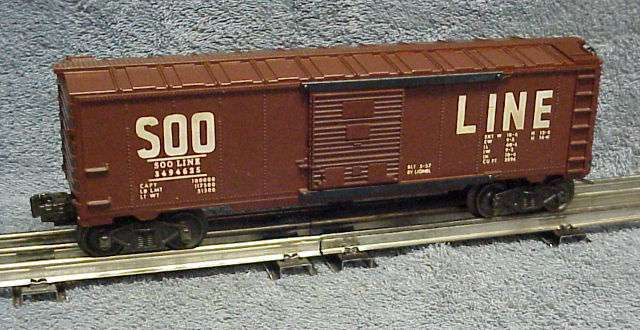 Photo of an original 3494-625 Soo Line Operating Boxcar