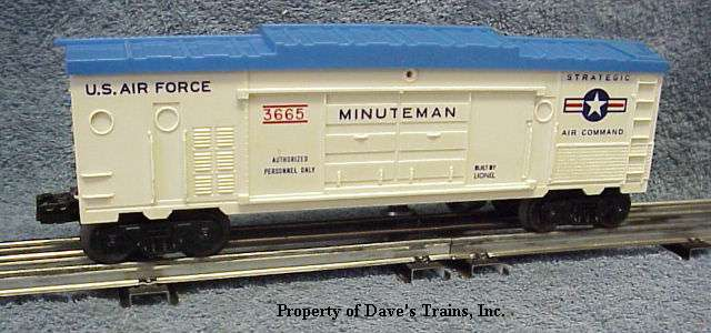 Photo of a 3665 Minuteman Boxcar (3619 mold version)