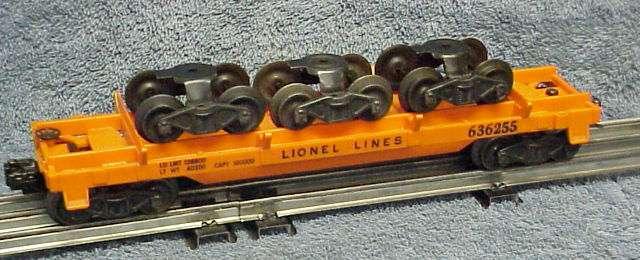 Photo of a 6362-55 Rail Truck Car (sans-serif lettering)