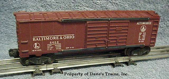 Photo of a Tuscan 6468 B & O Automobile Boxcar