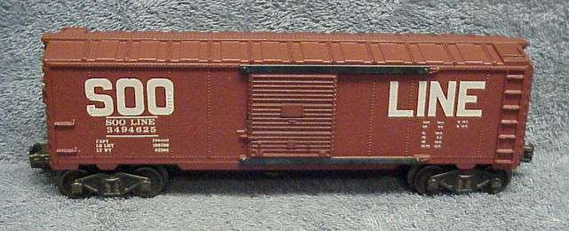 Photo of a fake 3494-625 Soo Line Operating Boxcar